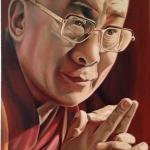 Michael J Ferrari Dali Lama painting