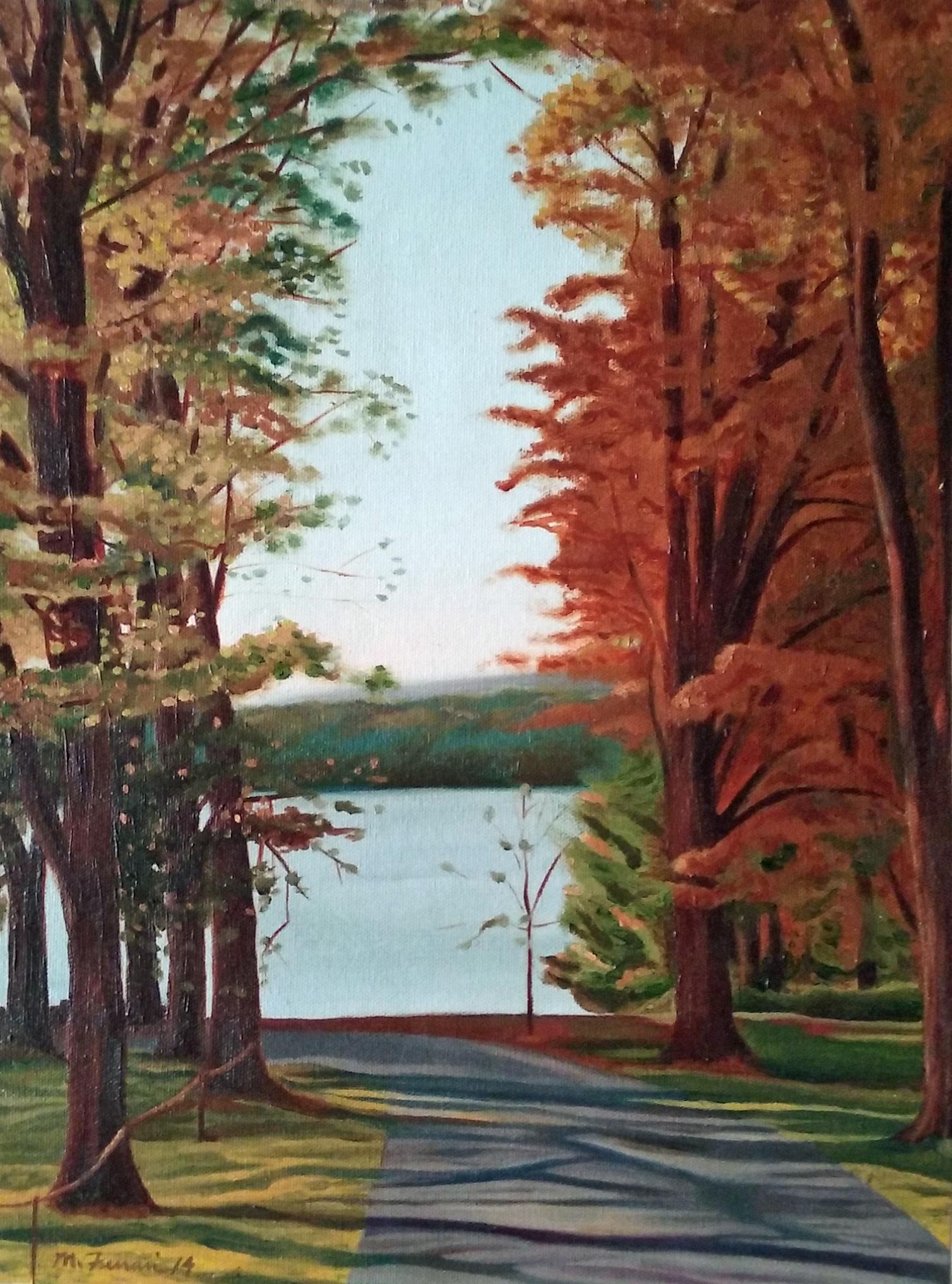 Michael Ferrari FDR Hyde Park painting