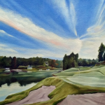 Michael Ferrari SC golf painting