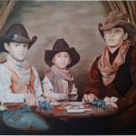 Michael J Ferrari texas hold em up painting