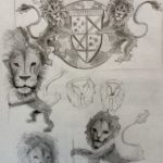 lion tattoo study sketch